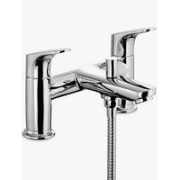 John Lewis Eden Deck Mounted Bath and Shower Mixer, Chrome