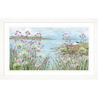 Diane Demirci - Cliff Top Cottage Framed Print, 67 x 107cm