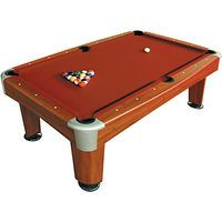 BCE Riley Rosemont 7 Foot Pool Table, Red