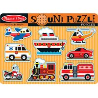Melissa & Doug Vehicle Sound 8-Piece Puzzle