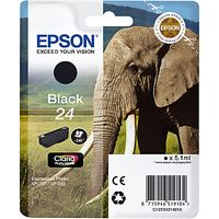 Epson Elephant T2421 Ink Cartridge, Black