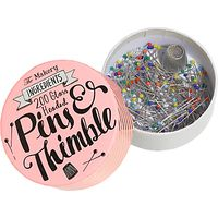 The Makery Pins And Thimble Tin