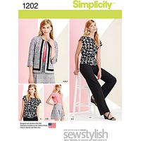 Simplicity Womens Sportswear Sewing Pattern, 1202