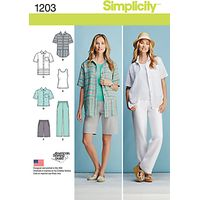 Simplicity Womens Sportswear Sewing Pattern, 1203