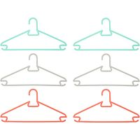 House by John Lewis Coloured Plastic Hangers, Set of 6