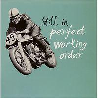 Woodmansterne Motorcycle Driving Birthday Card