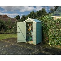 Rowlinson Shiplap Apex Garden Shed, Willow/Cream