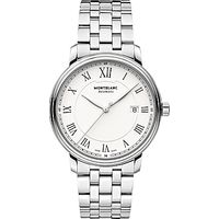 Montblanc 112610 Mens Tradition Automatic Stainless Steel Bracelet Watch, Silver