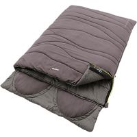 Outwell Contour Lux Double Sleeping Bag, Grey