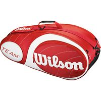 Wilson Team Collection 6 Pack Tennis Bag, Red/White