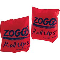 Zoggs Roll-Up Armbands, Orange