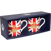 Crown and Union Jack Espresso Cups, Set of 2