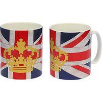 Crown and Union Jack Mug