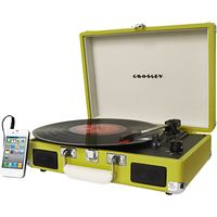 Crosley Cruiser Turntable With Three Speeds, Green