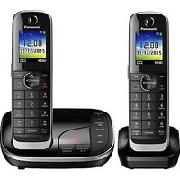 Panasonic KX-TGJ322EB Digital Cordless Phone with Nuisance Call Control and Answering Machine, Twin DECT