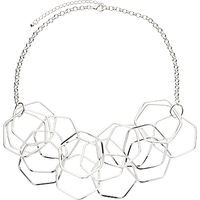 John Lewis Hexagonal Necklace, Silver