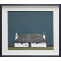 Ron Lawson - Cottage And Bike, Framed Print, 45 x 52cm