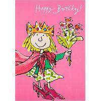 Woodmansterne Little Girl In Cloak Birthday Card