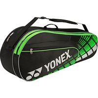 Yonex Performance Series 6 Pack Badminton Bag, Black/Yellow