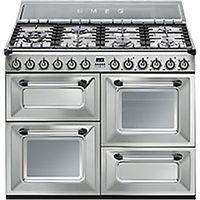 Smeg TR4110X Duel Fuel Range Cooker, Stainless Steel