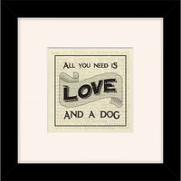 East of India - All You Need Is Love & A Dog, 27 x 27cm