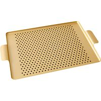 Kaymet Tray with Rubber Grips, Gold