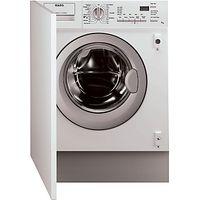 AEG L61271WDBI Integrated Washer Dryer, 7kg Wash/4kg Dry Load, C Energy Rating, 1200rpm Spin