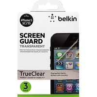 Belkin Transparent Screen Protector for iPhone 5/5s, 3 Pack