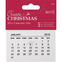 Docrafts 2016 Calendar Tabs