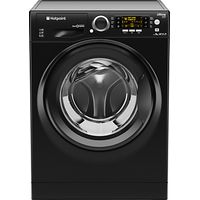 Hotpoint RPD9467JKK Ultima S-Line Freestanding Washing Machine, 9g Load, A+++ Energy Rating, 1400rpm Spin, Black