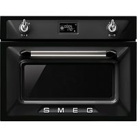Smeg SF4920MCN Victoria Integrated Compact Combi Microwave Oven, Black