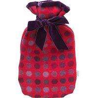 Melin Tregwynt Mondo Spot Hot Water Bottle, Red