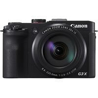 Canon PowerShot G3X Compact Digital Camera, HD 1080p, 20.2MP, 25x Optical Zoom, 50x ZoomPlus, Wi-Fi, NFC, 3 Tiltable Touch LCD Screen
