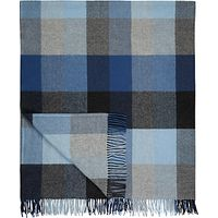 Avoca Wool Throw, Denim Blue