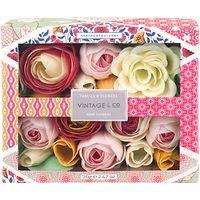 Heathcote & Ivory Vintage Fabric & Flowers Soap Flowers