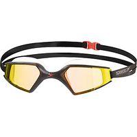 Speedo Aquapulse Max Mirror 2 IQfit Swimming Goggle, Black/Orange