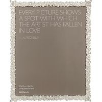 John Lewis Jasmine Silver Plated Photo Frame, 8 x 10