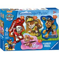 Paw Patrol 4-In-1 Ravensburger Shaped Puzzles, 52 Pieces