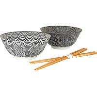 Tokyo Design Studio Bowl and Chopsticks, Set of 2