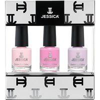 Jessica Pastel Midi Vitamin Enriched Custom Colours Nail Gift Set, 3 x 7.4ml