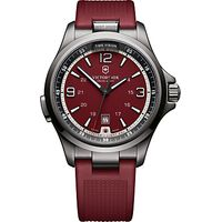 Victorinox 241717 Mens Night Vision Rubber Strap Watch, Red