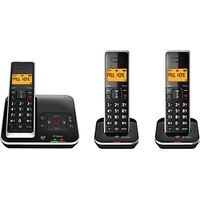 BT Xenon 1500 Cordless Telephone with Answering Machine, Trio DECT