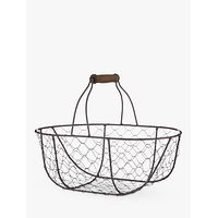 John Lewis Croft Collection Oval Wire Basket