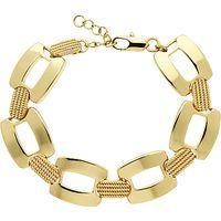 Monet Textured Link Bracelet, Gold
