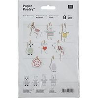 Rico Animal Embroidery Boards, Pack of 8