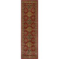 John Lewis Diamond Kazak Runner, Red, L229 x W66cm
