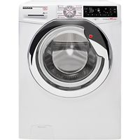 Hoover Dynamic Wizard DWT L413AIW3/1 Freestanding Wi-Fi Washing Machine, 13kg Load, A+++ Energy Rating, 1400rpm Spin, White/Chrome