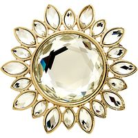 Monet Crystal Sunburst Brooch, Gold