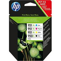 HP 950XL/951XL Ink Cartridge Multipack, Pack of 4
