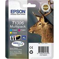 Epson Stag T1306 XL Ink Cartridges, Multipack